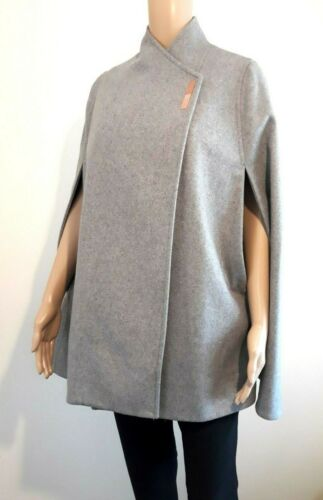 Ted Baker London aillaa GRIS LAINE /& CASHMERE Cape BNWT UK 12 Ted 3 US 8 RRP £ 199