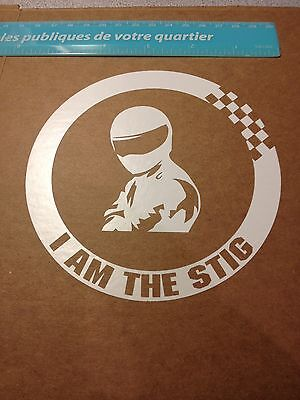 "5"" I am the Stig sick decal sticker car window bike dirt JDM dope filthiest RN"