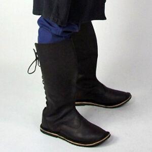 69f9ba98d7a963 Das Bild wird geladen Mittelalter-Stiefel-Schuhe-Gr-37-47-Handarbeit-vom-