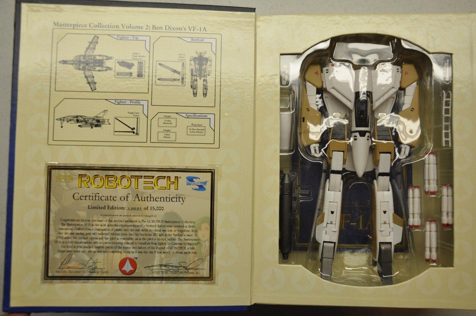 Juguetenami Robotech Masterpiece VF-1A Ben Dixon Veritech Fighter  sin usar, en caja