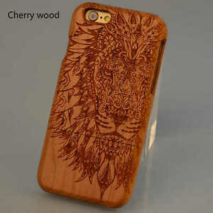 best website d7451 734b2 Details about For IPhone 7 6s Plus Natural Wooden Wood Lion Taatoo Phone  Case Cover