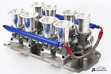 SBC Satin Aluminum EFI Fuel Injection Hilborn Style Down Draft Intake Kit Chevy