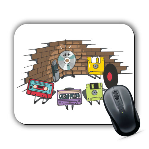 FLOPPY THREAT MOUSE MAT Pad Computer PC Laptop Gaming Retro Casette Arcade Funny