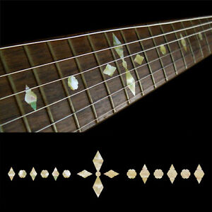 Inlay-Stickers-Decals-Fret-Markers-For-Guitar-Checker-Diamonds-Aged-Pearl