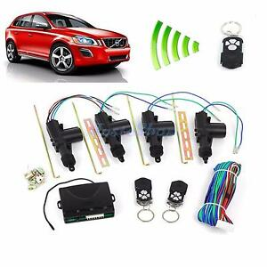 Universal Car Central Power Door Lock / Unlock Remote Kit Keyless Entry 4 Doors