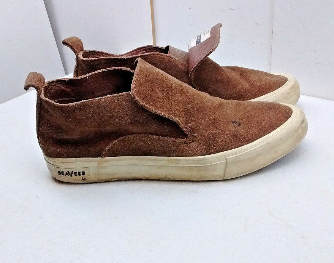 SeaVees Huntington Middie Men's Brown Suede Slip on Fashion Sneakers shoes 9.5 M