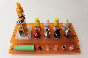 E-Zigarettenhalter-E-Zigarettenstaender-Liquid-Halter-Staender-Verdampfer-Orange