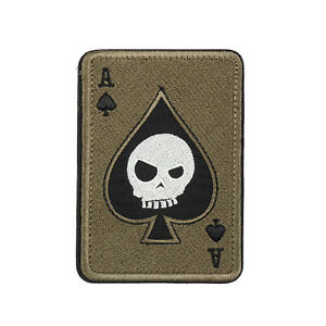 Ace-Of-Spades-Death-Skull-Card-USA-Army-Tactical-Morale-Calico-Hook-Loop-Patch-T