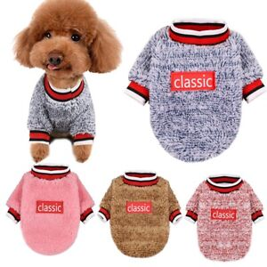 Pet-Apparel-Warm-Fleece-Dog-Clothes-Autumn-Winter-Letter-Print-Round-Neck-Jumper