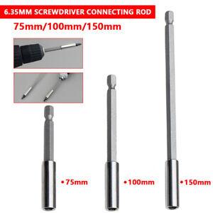 100 mm 150 mm et 1//4/ 60 mm Lot de 10 porte-embouts aimant/és/