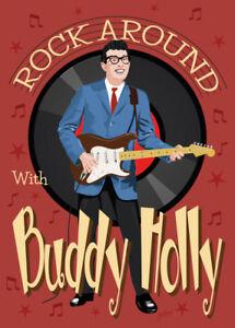 Buddy Holly - Fifties style poster - (signed) Art Print - Jarod Art