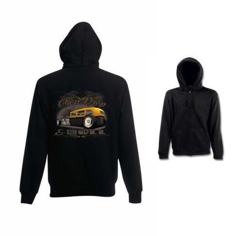 `50 Felpa Us Disegno Per Nero V8 Allenamento Chop Modello Sportiva Auto Drop r0qAfx10w6