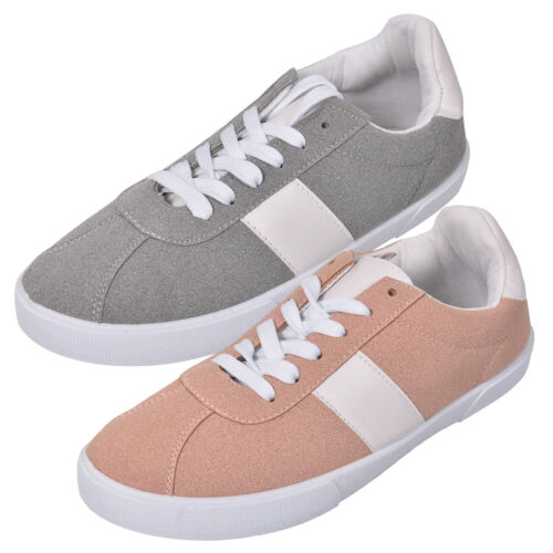 Ladies Loyalty /& Faith Lace up Fashion Sneakers Flat Pumps Trainers Shoes