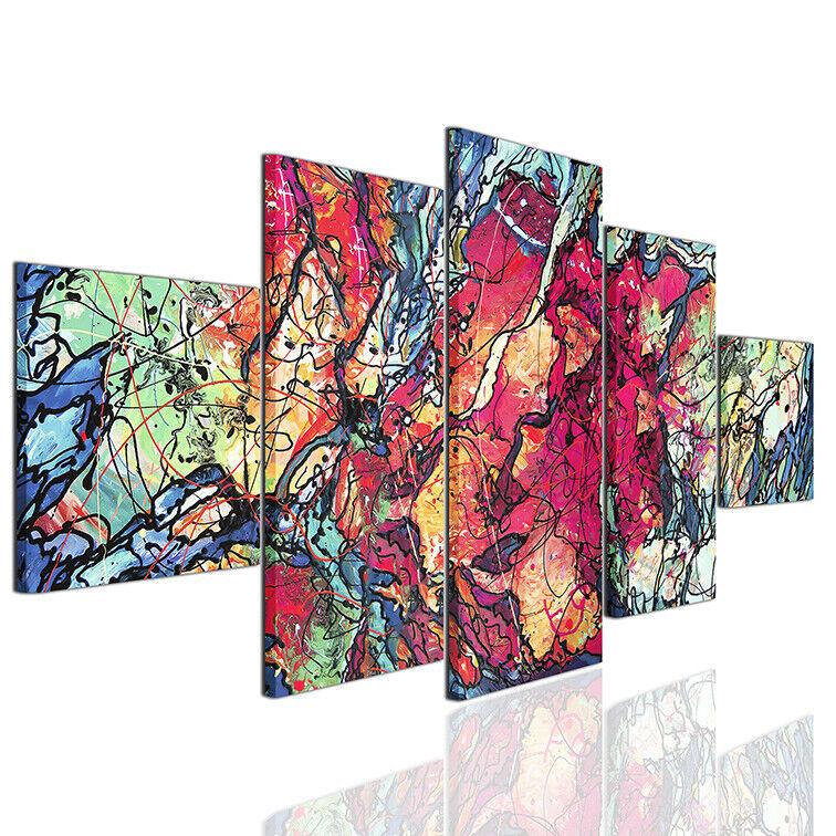 tela su moderne stampe astratti quadro Quadri a78 arroto ...