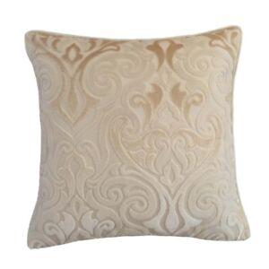 Upholstery-Velvet-Damask-18x18-034-Cream-Decorative-Throw-Pillow-Case-Cushion-Cover