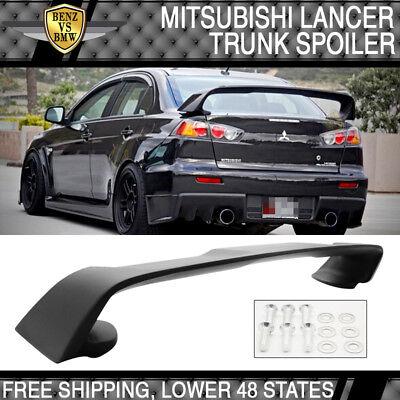 Fit 2008-2015 Mitsubishi Lancer EVO 10 Matte Black  Rear Trunk Wings Spoiler ABS