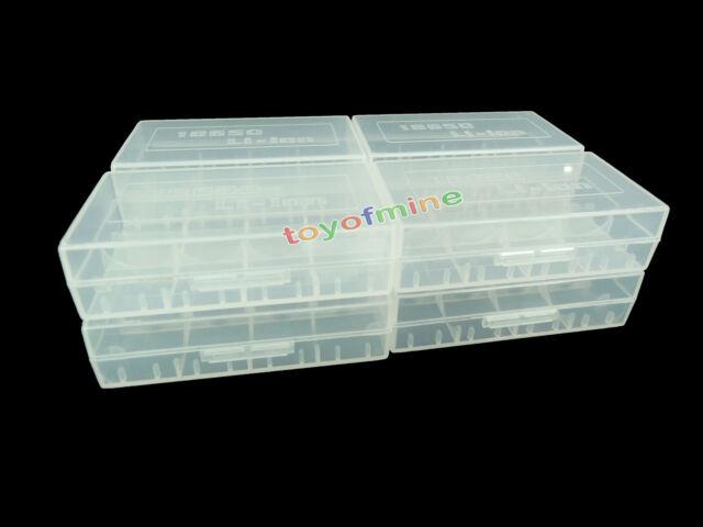 8pcs 18650/16340/CR123A Transparent White Battery Storage Box Hot Sale