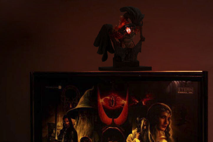 Lord of The Rings Pinball Machine Balrog Topper, Incredible effect, glowing red