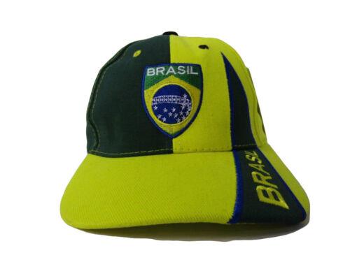 Brasil Brazil Brazilian Neon Green Ordem e Progresso Embroidered Cap Hat