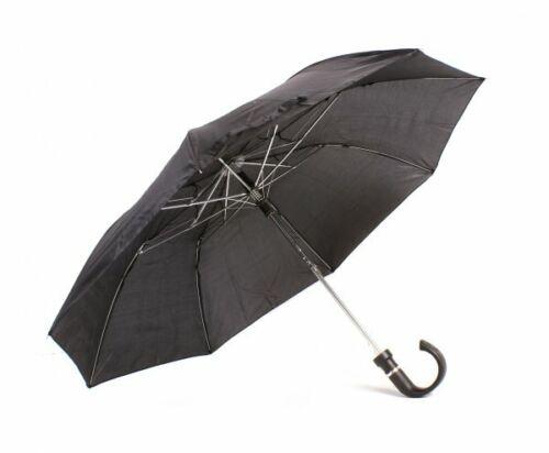 Parapluie Noir Automatique Bouton printemps libération Hommes Femme Brolly pliant parasol