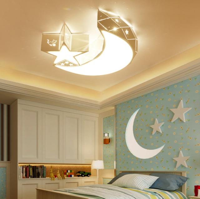 Acrylic Star Moon Led Chandeliers Baby Kids Room Bedroom Lighting Ceiling Lamps For Sale Online Ebay