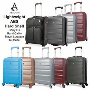 Aerolite-Lightweight-ABS-Hard-Shell-Carry-On-Hand-Cabin-Travel-Luggage-Suitcase