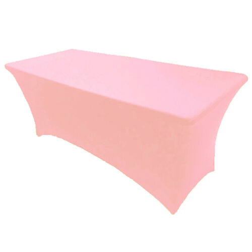 8/' ft Spandex Fitted Stretch Tablecloth Table Cover Wedding Banquet Pink