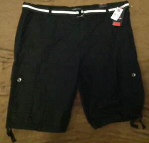 dacb129ee3 Mens SOUTH POLE Black Belted Cargo Shorts BIG & TALL Black Size 48 ...