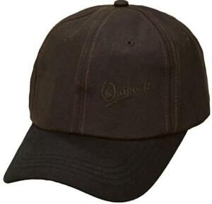 Image is loading Outback-Trading-Co-Aussie-Slugger-Oilskin-Cap-Brown- fad08c178ed