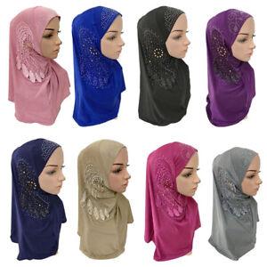 Muslim-Hijabs-Ladies-Scarf-Soft-Women-039-s-Under-Islamic-Inner-Cap-Wrap-Scarves