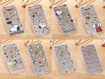 Cute Cartoon Pattern Transparent Clear Hard Case Cover skin For iphone 6/6 plus
