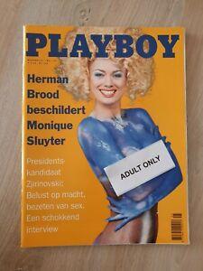 Dutch Playboy Magazine 1995-05 Monique Sluyter painted by