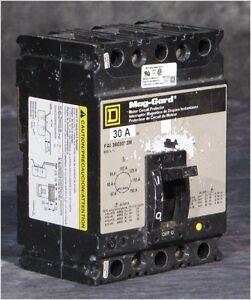 SQUARE-D MAG-GARD FAL363018M 30 AMP MOTOR PROTECTOR/BREAKER