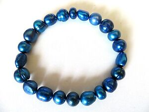 Honora-Cultured-Royal-Blue-Pearl-Stretch-Bracelet
