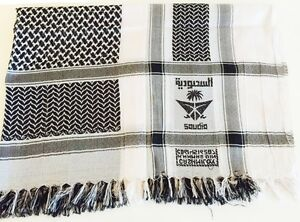 e352e95f33b Details about Black and White Arab Arafat Shemagh Keffiyeh Scarf Neck Wrap  Palestine Mens Gift