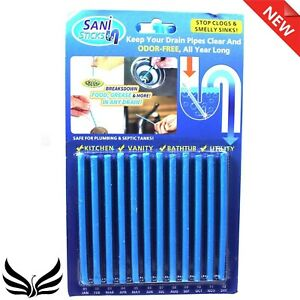 Easy Flow Drain Sticks Pack of 24 Cleaner to Provent Blockage Total-24Pcs Clogs