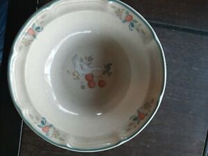 Int'l China MARMALADE Cereal Bowls Set of 5 Goose Geese Duck Ribbon