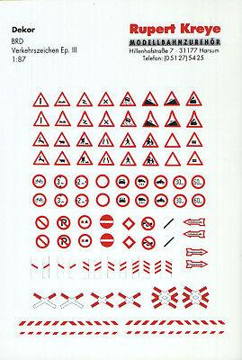 Bello H0 Segnali Stradali Brd (parte 1), Serigrafia Di Kreye-decals, 087-0160-n Brd (teil 1), Siebdruck Von Kreye-decals, 087-0160 It-it Mostra Il Titolo Originale