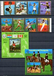 PARAGUAY-1976-Olympiade-Olympics-Montreal-2704-2711-Block-254-255-MNH