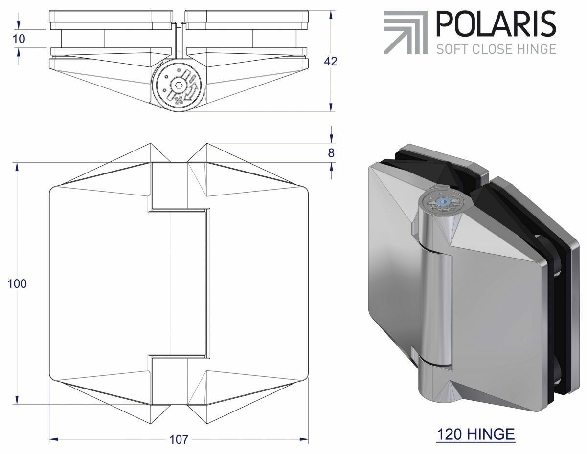 Polaris Soft Close Hydraulic Hinge 1 Pair Self Closing Pool Fence Glass Gate Ebay