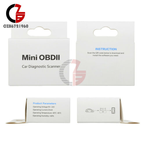 Auto Car ELM327 OBD2 V2.1 Bluetooth Diagnostic Interface Scanner OBD-II New