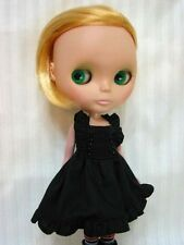 C.C.T Blythe Dal doll outfit pleated black dress with bead c-113