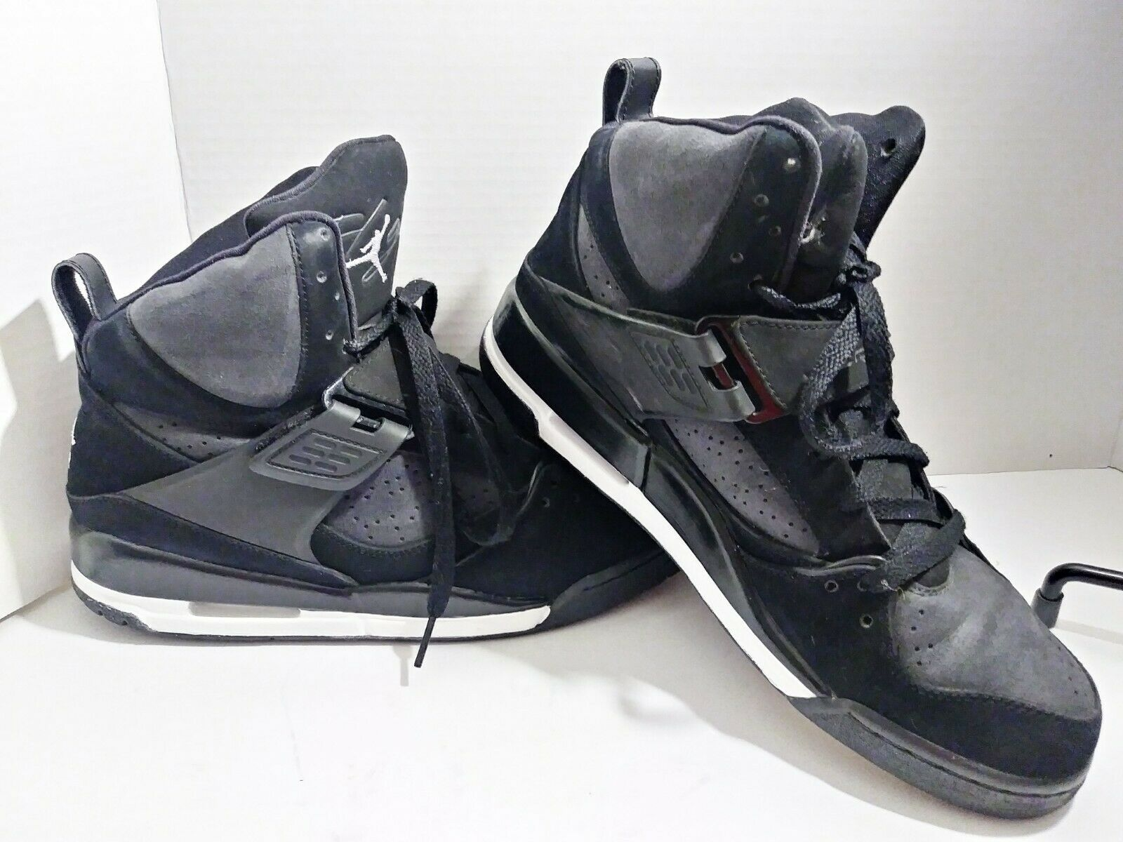 AIR JORDAN FLIGHT 45 HIGH 384519-012 Black   White-Dark Charcoal Size 10.5
