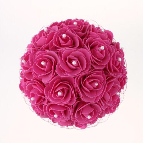 Handgemachte Hochzeit Brautstrauß Spitze Rosen Blumen Strauß