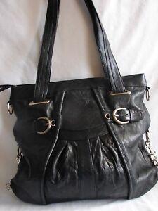 JUNIOR-DRAKE-Pleated-Leather-Hobo-Shoulder-Bag-Handbag