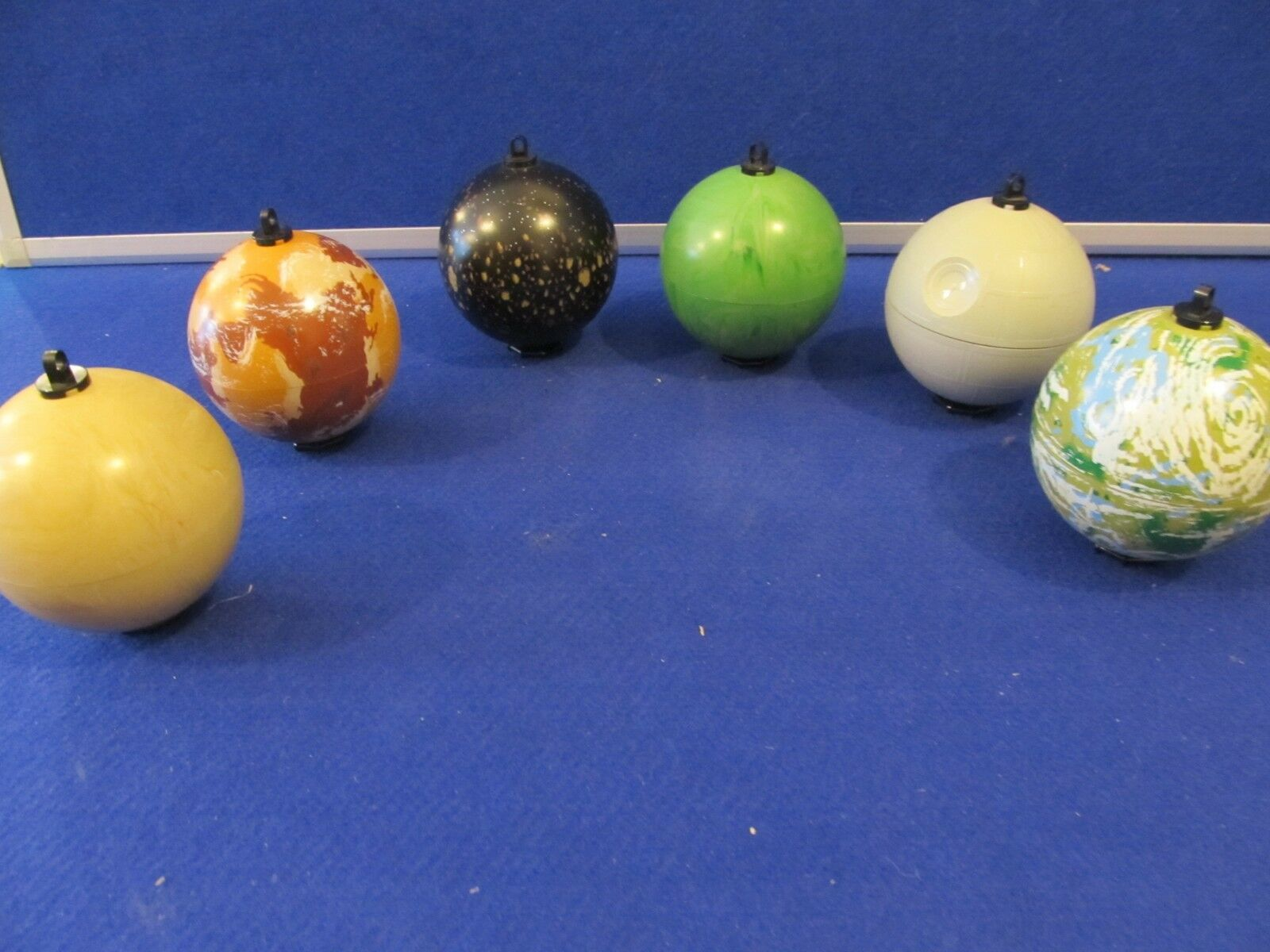 6 Lego Star Wars Planet Baubles ExC rare