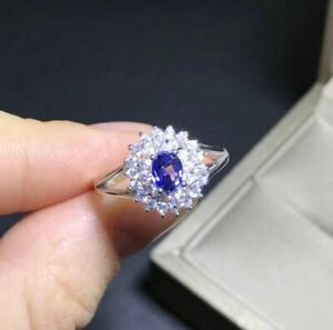 1-50Ct-Oval-Cut-Tanzanite-Diamond-Halo-Engagement-Ring-In-14K-White-Gold-Finish