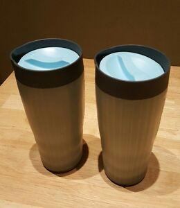 tupperware 2 thermobecher coffee to go becher isobecher ebay. Black Bedroom Furniture Sets. Home Design Ideas