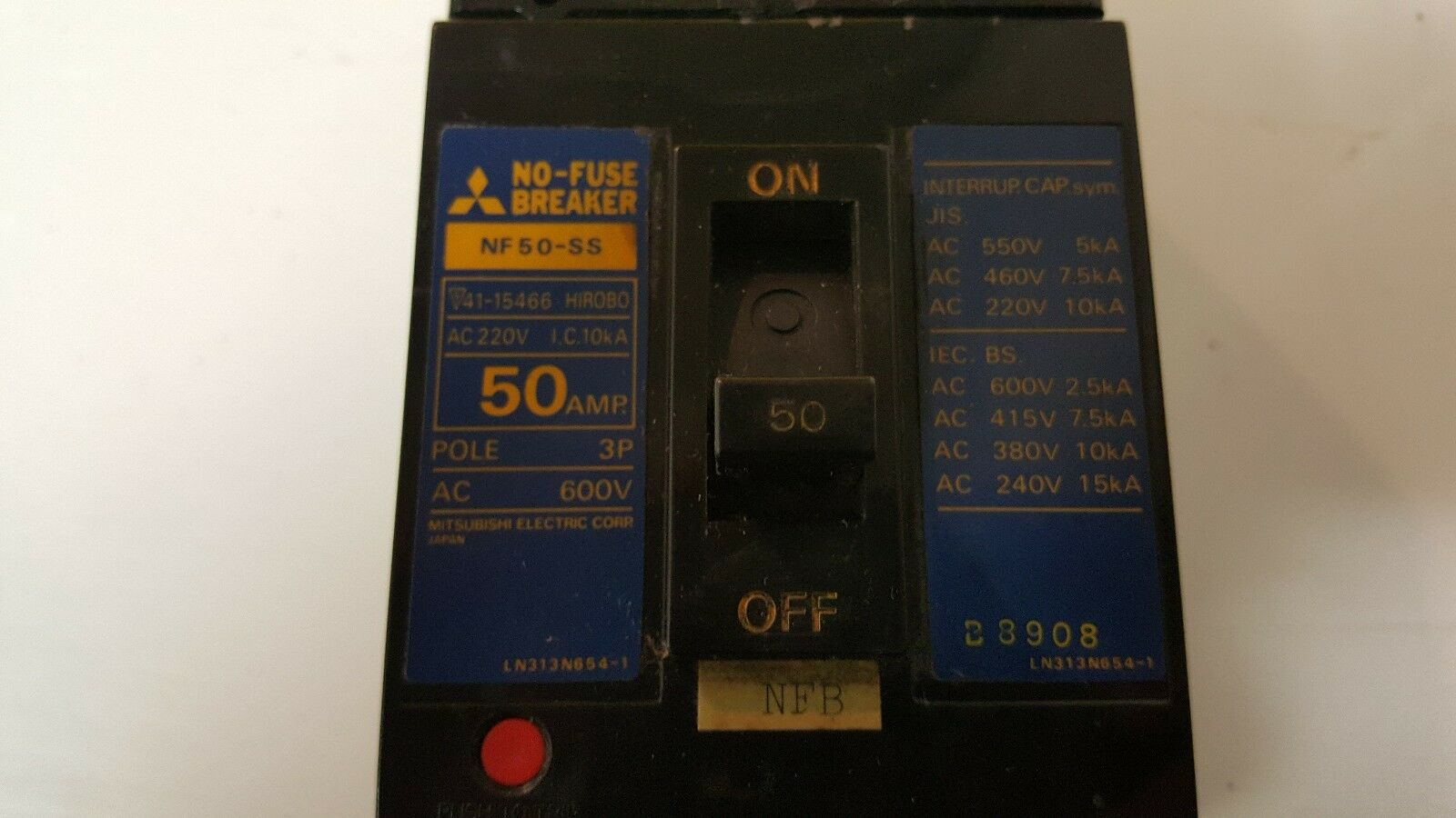 Mitsubishi Nf50 Ss 30 Amp 2 Pole Circuit Breaker Ebay Homeline 50amp 2pole Home Gfci Plugin Walmartcom Stock Photo