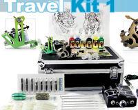 Tattoo Starter Travel Kit 1 Seller Supply Ink Needles Machine Grips Tips Case